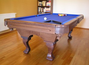 kulecnikovy stul grand pool 6ft modre platno